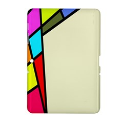 Digitally Created Abstract Page Border With Copyspace Samsung Galaxy Tab 2 (10.1 ) P5100 Hardshell Case