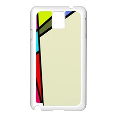 Digitally Created Abstract Page Border With Copyspace Samsung Galaxy Note 3 N9005 Case (White)