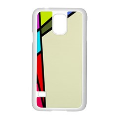 Digitally Created Abstract Page Border With Copyspace Samsung Galaxy S5 Case (white)