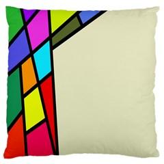 Digitally Created Abstract Page Border With Copyspace Large Flano Cushion Case (Two Sides)