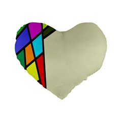 Digitally Created Abstract Page Border With Copyspace Standard 16  Premium Flano Heart Shape Cushions