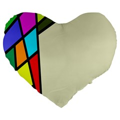 Digitally Created Abstract Page Border With Copyspace Large 19  Premium Flano Heart Shape Cushions