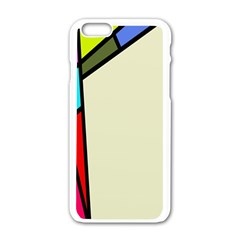 Digitally Created Abstract Page Border With Copyspace Apple iPhone 6/6S White Enamel Case