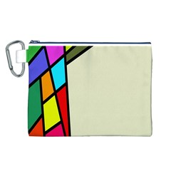 Digitally Created Abstract Page Border With Copyspace Canvas Cosmetic Bag (L)
