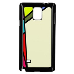 Digitally Created Abstract Page Border With Copyspace Samsung Galaxy Note 4 Case (black)
