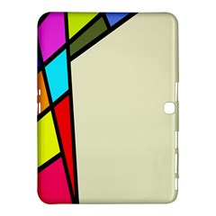 Digitally Created Abstract Page Border With Copyspace Samsung Galaxy Tab 4 (10 1 ) Hardshell Case