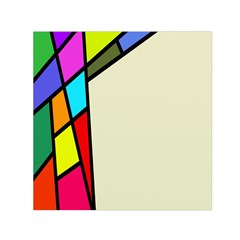 Digitally Created Abstract Page Border With Copyspace Small Satin Scarf (Square)