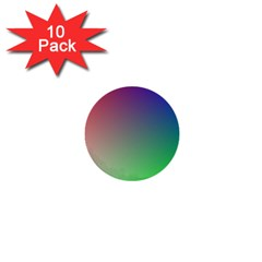 3d Rgb Glass Frame 1  Mini Buttons (10 pack)
