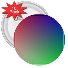 3d Rgb Glass Frame 3  Buttons (10 Pack)