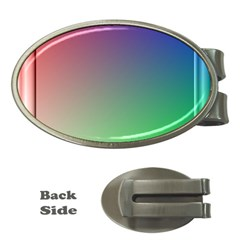 3d Rgb Glass Frame Money Clips (oval)