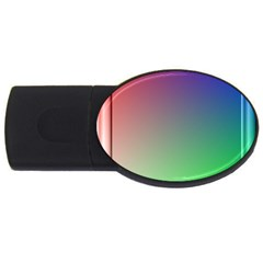 3d Rgb Glass Frame USB Flash Drive Oval (1 GB)