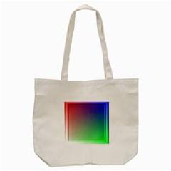 3d Rgb Glass Frame Tote Bag (Cream)