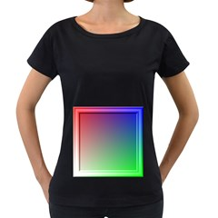 3d Rgb Glass Frame Women s Loose Fit T Shirt (black)