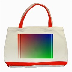 3d Rgb Glass Frame Classic Tote Bag (red)