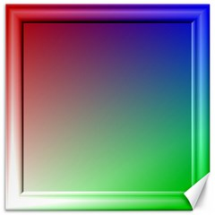 3d Rgb Glass Frame Canvas 20  X 20