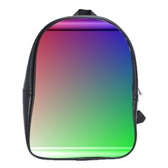 3d Rgb Glass Frame School Bags(Large)