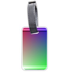 3d Rgb Glass Frame Luggage Tags (Two Sides)