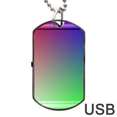 3d Rgb Glass Frame Dog Tag USB Flash (One Side)