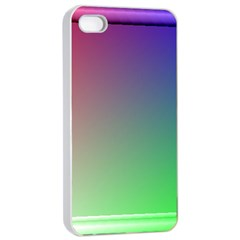 3d Rgb Glass Frame Apple iPhone 4/4s Seamless Case (White)
