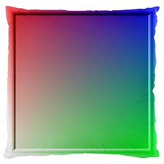 3d Rgb Glass Frame Large Cushion Case (Two Sides)