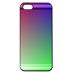 3d Rgb Glass Frame Apple Iphone 5 Seamless Case (black)