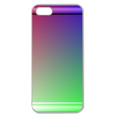 3d Rgb Glass Frame Apple Seamless Iphone 5 Case (clear)