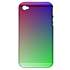 3d Rgb Glass Frame Apple iPhone 4/4S Hardshell Case (PC+Silicone)