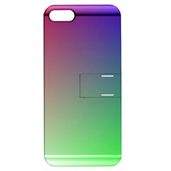 3d Rgb Glass Frame Apple iPhone 5 Hardshell Case with Stand