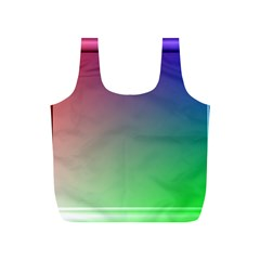3d Rgb Glass Frame Full Print Recycle Bags (S)