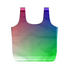 3d Rgb Glass Frame Full Print Recycle Bags (M)