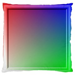 3d Rgb Glass Frame Large Flano Cushion Case (Two Sides)