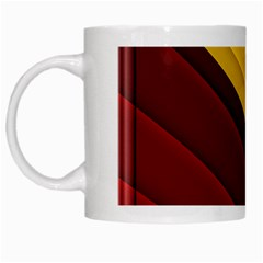 3d Glass Frame With Red Gold Fractal Background White Mugs