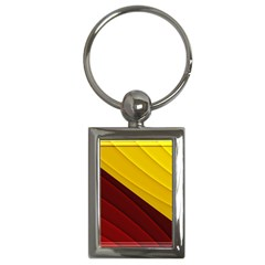 3d Glass Frame With Red Gold Fractal Background Key Chains (rectangle)
