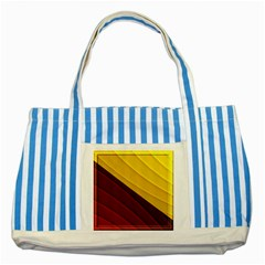 3d Glass Frame With Red Gold Fractal Background Striped Blue Tote Bag
