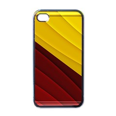 3d Glass Frame With Red Gold Fractal Background Apple Iphone 4 Case (black)