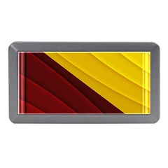 3d Glass Frame With Red Gold Fractal Background Memory Card Reader (mini)