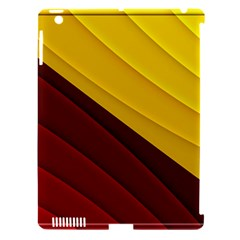 3d Glass Frame With Red Gold Fractal Background Apple iPad 3/4 Hardshell Case (Compatible with Smart Cover)