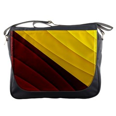 3d Glass Frame With Red Gold Fractal Background Messenger Bags