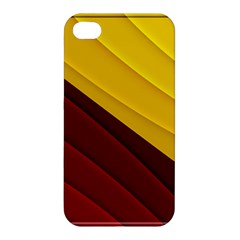 3d Glass Frame With Red Gold Fractal Background Apple iPhone 4/4S Premium Hardshell Case