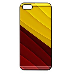 3d Glass Frame With Red Gold Fractal Background Apple iPhone 5 Seamless Case (Black)