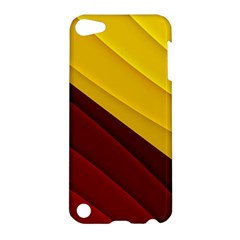 3d Glass Frame With Red Gold Fractal Background Apple Ipod Touch 5 Hardshell Case