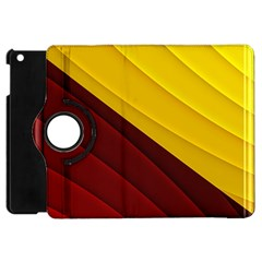 3d Glass Frame With Red Gold Fractal Background Apple iPad Mini Flip 360 Case