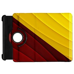 3d Glass Frame With Red Gold Fractal Background Kindle Fire HD 7