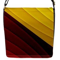 3d Glass Frame With Red Gold Fractal Background Flap Messenger Bag (S)