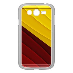 3d Glass Frame With Red Gold Fractal Background Samsung Galaxy Grand DUOS I9082 Case (White)