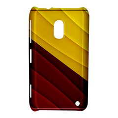3d Glass Frame With Red Gold Fractal Background Nokia Lumia 620