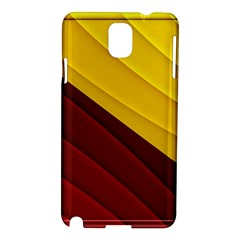 3d Glass Frame With Red Gold Fractal Background Samsung Galaxy Note 3 N9005 Hardshell Case