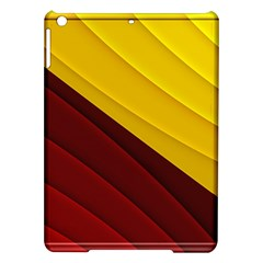 3d Glass Frame With Red Gold Fractal Background iPad Air Hardshell Cases