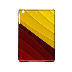 3d Glass Frame With Red Gold Fractal Background Ipad Mini 2 Hardshell Cases