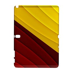 3d Glass Frame With Red Gold Fractal Background Galaxy Note 1